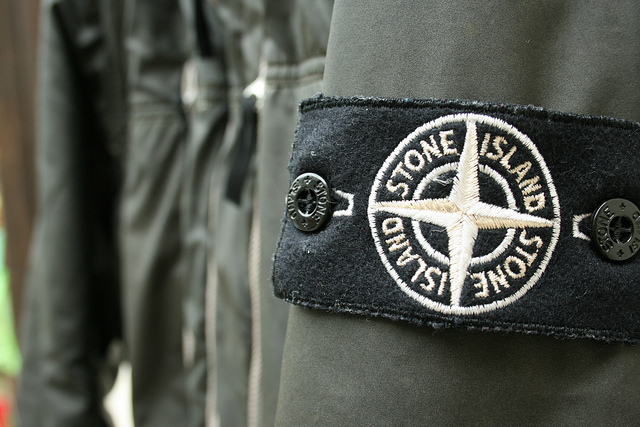 Image result for different colour stone island badges